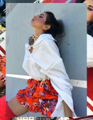 OOTD, Like to Know IT, #LTKxPFW, Pari Fashion Week 2017, OOTD, OOTN, Milan Fashion Week, How to Transition to Fall Fashion, Summer to Fall Fashion, DIOR Make up for Fall, Fall Trends 2017, Fall Fashion 2017, Ms Coffee and Cream Blog, Asha Raval, Milan Fashion Blogger, Paris Street Style, Paris Blogger, Fblogger, How to wear white in fall, statement earrings for fall, Thigh High Boots for Fall 2017