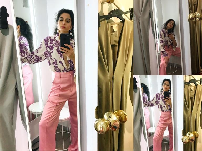 H&M Spring Trend Rport 2018, Spring Fashion Trend Report Color, Vogue Italia Spring Trends, Pink Monochrome Spring Trend, Blush Pink for Spring, Pink Monochrome Suit H&M Spring 2018, H&M OOTD, Asha Raval