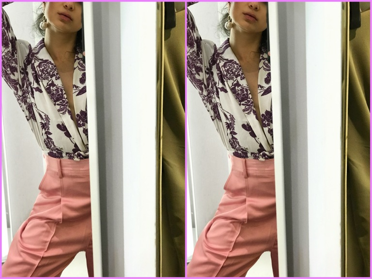 H&M SS18, How to Wear Spring Trends 2018, How to Wear Panatone colors 2018, How to wear purple 2018, how to wear pink monochrome,