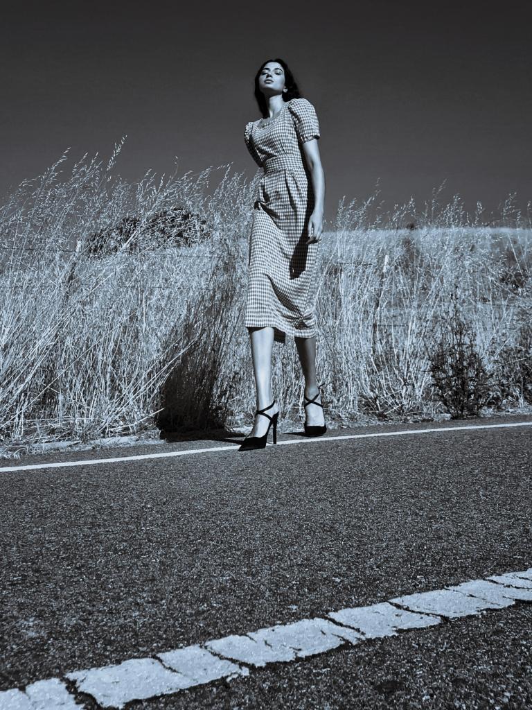 Miss Universe, Indian Supermodel, Midi Gingham Dress, Fashion Editorial Wizard Of Oz, Asha Raval Fashion Blog, palo alto fashion blog, San Francisco fashion blog, Gingham dress trend summer 2018, Vogue Editorial, Fashion Blog Editorial, Black Zara Pumps, Grace Coddington Editorial, Asha Raval Fashion Icon, Summer Outfit, Indian Blogger, Fashion Blogger Street Style, Fashion Portrait, Ms Coffee and Cream fashion blog