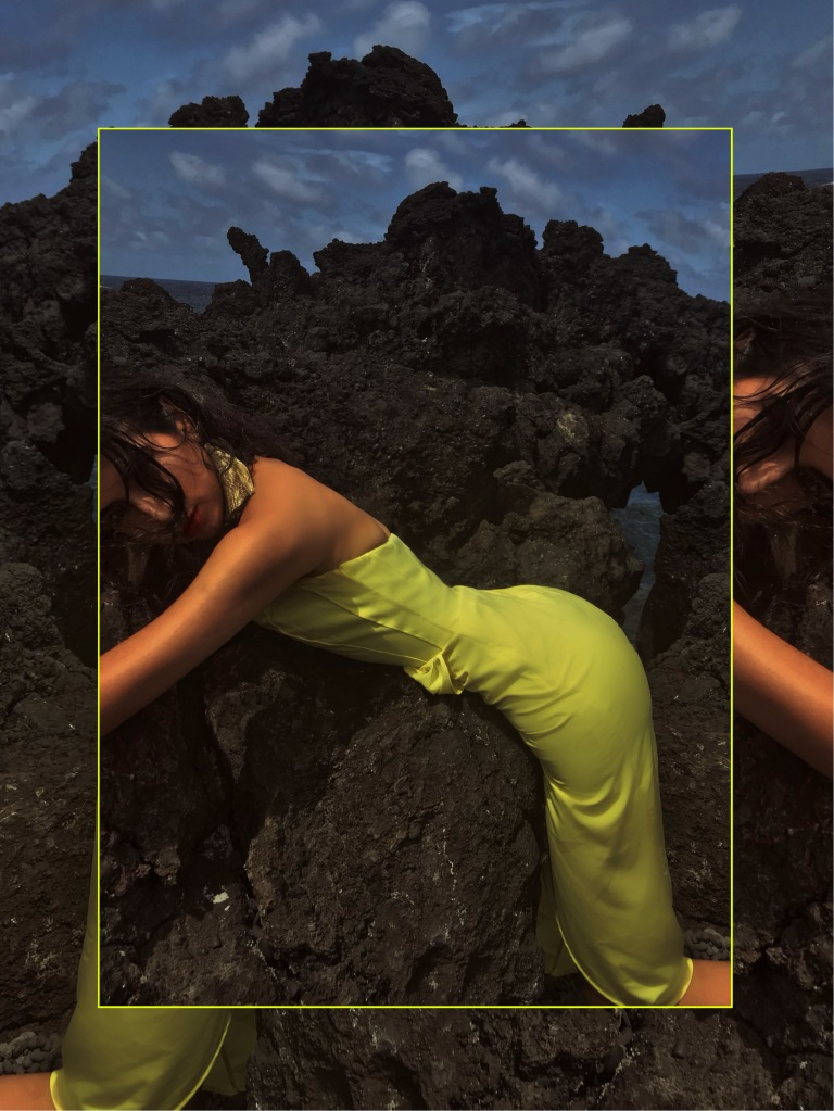 Asha Raval, Beach Fashion Editorial, Black Sand Beach, Maui, Wainapanapa State Part, Hart Studio Earrings, Indian Fashion Model, Moody Portrait, Vogue Italia Fashion Editorial, Best Fashion Instagram 2018, Road to hana 2018, Maui Travel Guide, Yellow Dress Summer 2018, What to Wear on Vacation Summer 2018, vacation Style, Vacation Fashion Creative Life, Best Fashion Blogger San Francisco, Best Fashion Blogger Hawaii, Tropical Fashion Shoot, Mixed Race Fashion Model, Lava Rocks Editorial, H&M Editorial, Target Style Shoes