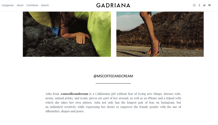 Gadriana.es, Best Instagram Accounts, Most unique Fashion Instagram Accounts, Best Fashion Blog 2018, Fashion and Art 2018, Self Portrait Blog 2018